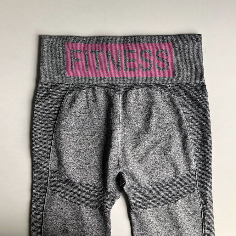 Mulheres de fitness sem costura leggings cintura