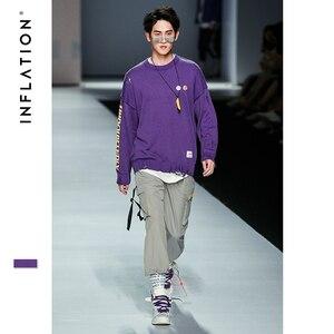 Image 5 - INFLATION 2020 Elastic Waist Patchwork Track Pants Mens Hip Hop Windbreaker Streetwear Trousers Harem Hip hop Swag Pants 8855W