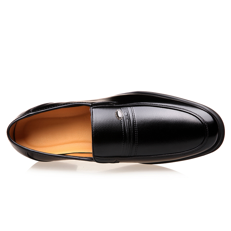 MUHUISEN Men Loafers Fashion Soft Leather Business Dress Shoes Male - Men's Shoes - Photo 2