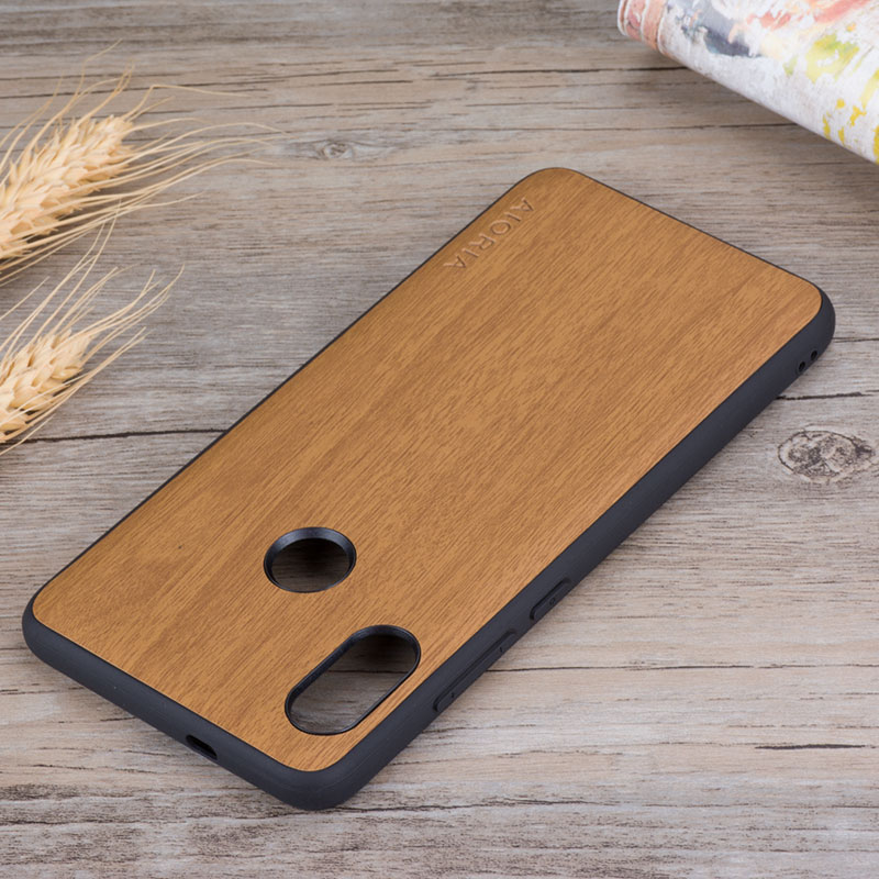 low priced b0e1d 4c010 Wooden Design Case For Xiaomi Redmi Note 5 Soft TPU Silicone &Amp; PC &Amp;  Wood PU Leather Skin Covers Coque Fundas Redmi Note 5 Pro