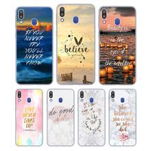 Silicone Phone Case Motivational Quotes Fashion for Samsung Galaxy Note 8 9 M30 M20 M10 S10 S9 S8 Plus Lite S6 S7 Edge Cover sonex vassa 1203 l
