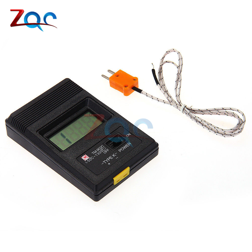 TM902C Digital LCD K Type Thermometer Temperature Single Input Pro Thermocouple Probe detector Sensor Reader Meter TM 902C цена