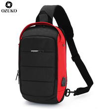 лучшая цена 2019 New Multifunction Crossbody Bags Sling Shoulder Bag for Men USB Charging Chest Pack Large Capacity Oxford Travel Chest Bags
