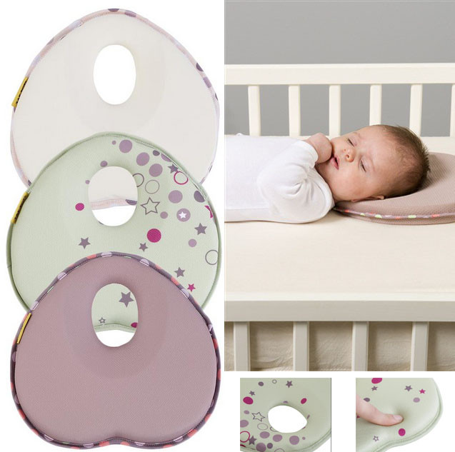 Hot baby pillow infant shape toddler sleep positioner anti roll cushion flat head pillow protection of children almohadas bebe