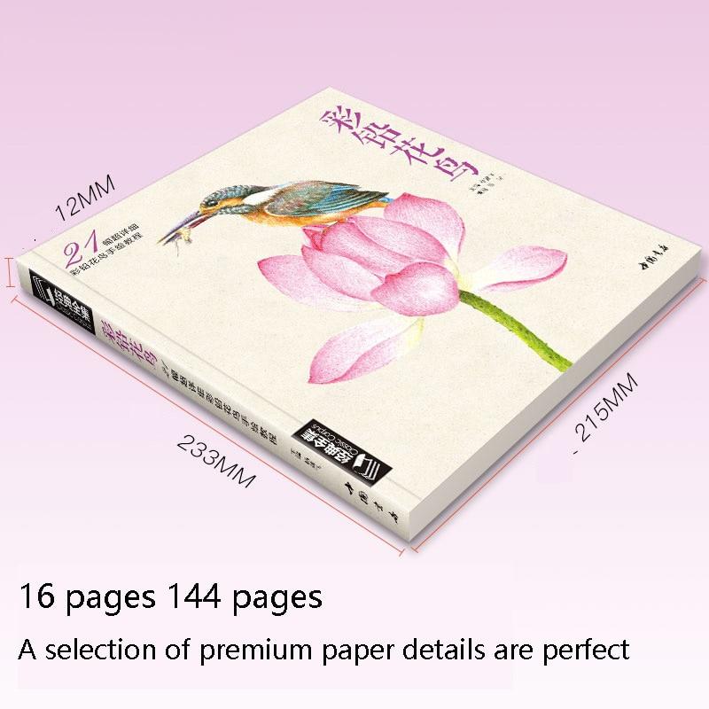base da flor do passaro mao pintado criancas adulto coloracao livro 03
