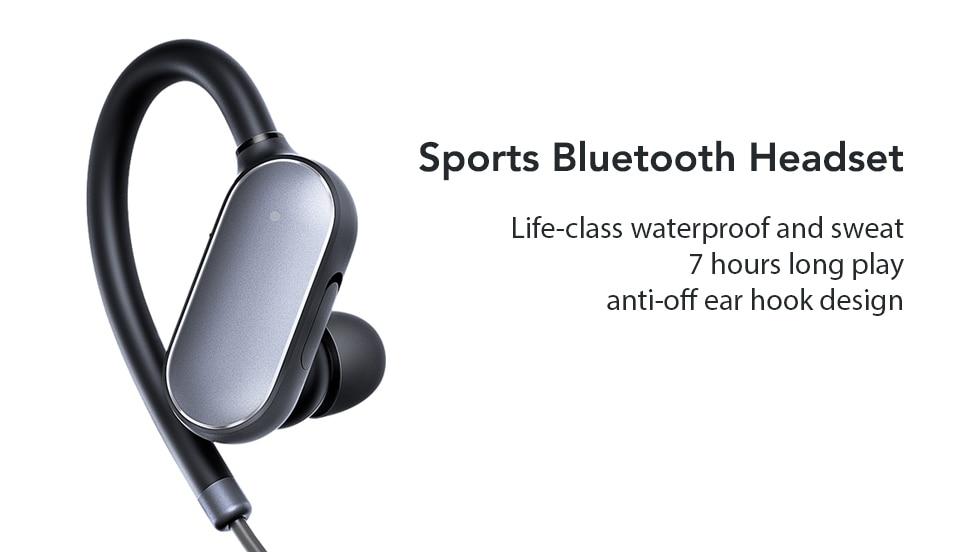 Original Xiaomi Mi Bluetooth Earphone mini Version Sport Wireless Headset IPX4 Waterproof Bluetooth 4.1 Headset (1)