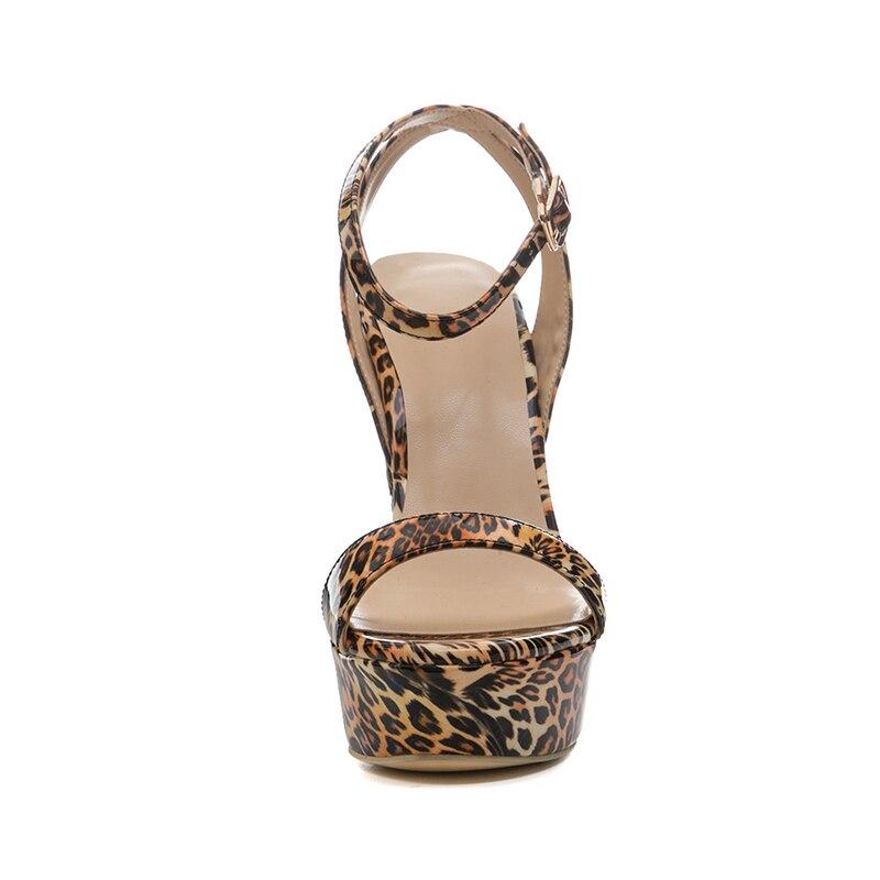 Sexy De Plataforma Hebilla Leopardo Alto Dedo Correa Del Leopard Wetkiss Zapatos Moda Cuñas Calzado Abierto Mujeres Sandalias Verano Tacón Pie Las T5wUS