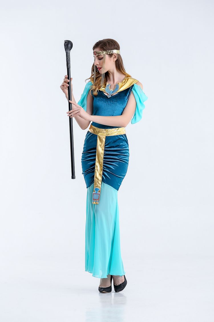 Halloween Cosplay Masquerade Adult Clothing Ancient Pharaoh Queen ...