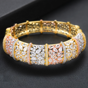 Image 4 - GODKI Luxury Ginkgo Leaf Nigeria Bangle Ring Set Jewelry Set For Women Wedding Cubic Zircon Crystal CZ Dubai Bridal Jewelry Sets
