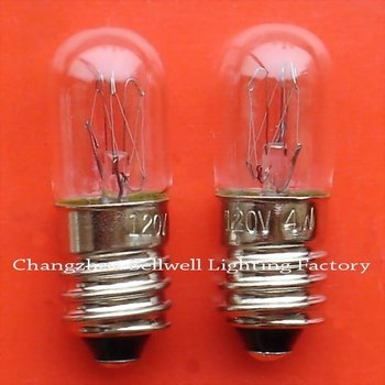 Free Shipping New!miniature Light Bulb 120v 4w E10 T10x28 A641