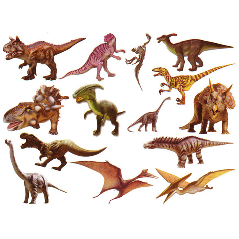 10pcs New Arrival Fashion Dinosaur Style Sticker Toys Classical Tattoo Stickers Cute Real Dinosaur Animals Gifts For Children