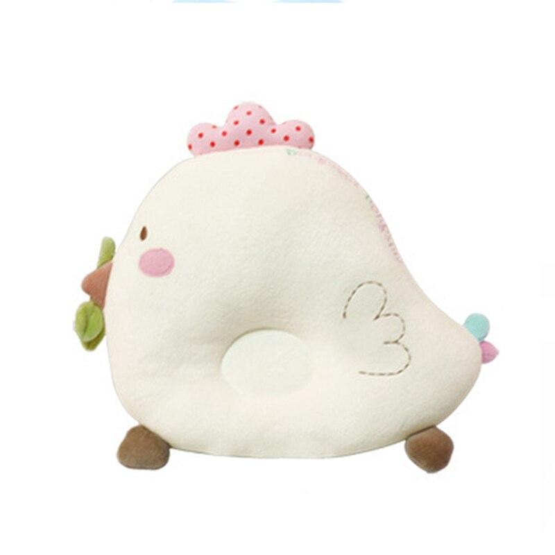 Kissen Baby Bettwäsche 2 StÜcke Baby Kissen & Babylätzchen Infant Stillkissen Baby Schlafkomfort Spielzeug Nette Huhn Baumwolle Nackenschutz Kissen