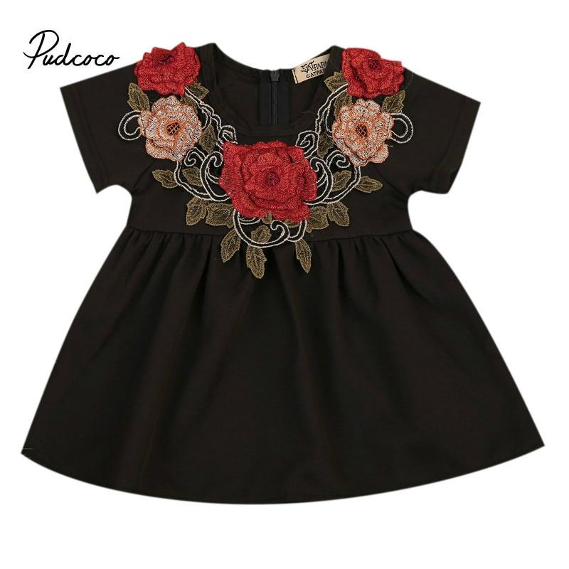 Black Dress Red Flowers Summer For S