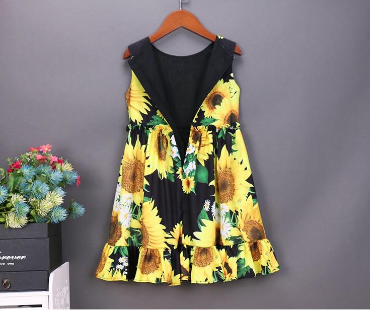Sommerfrauen-Säuglingssonnenblumendrucke kleiden die - Kinderkleidung - Foto 5