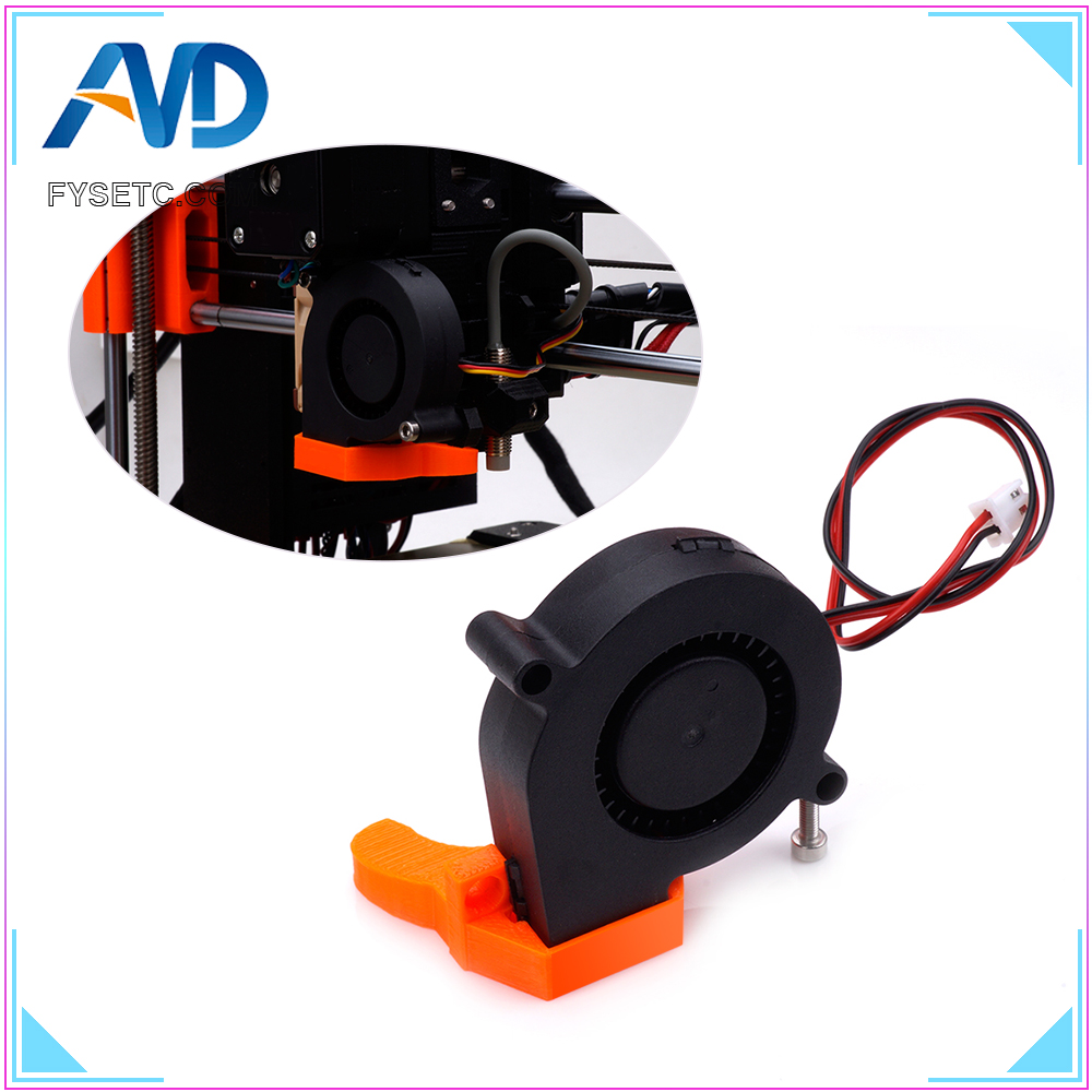 1pc 12V DC 5015 50x50x15mm Blow Radial Cooling Fan With Sleeve Bearing For Electronic Anet A8 A6 3D Printer Parts Low Noisy