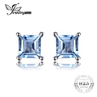 2015 New 0 76ct Natural Sky Blue Topaz 925 Solid Sterling Silver Fashion Women Dazzling Princess