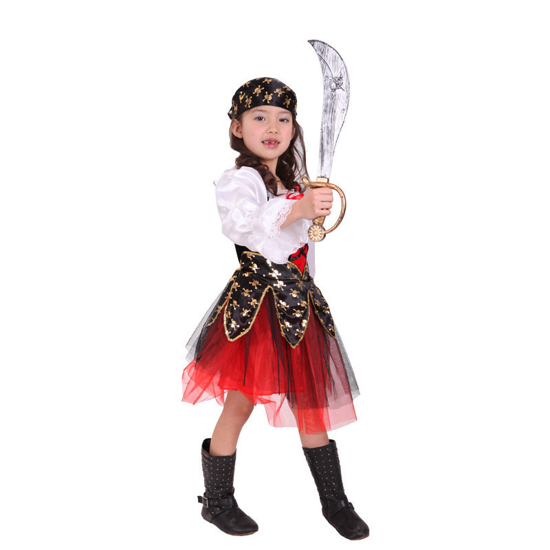 Free Shipping Children Girls Pirate Costumes Carnival Halloween Masquerade Party Kids Fancy Dress Costume Cosplay Clothes-in Girls Costumes from Novelty ...  sc 1 st  AliExpress.com & Free Shipping Children Girls Pirate Costumes Carnival Halloween ...