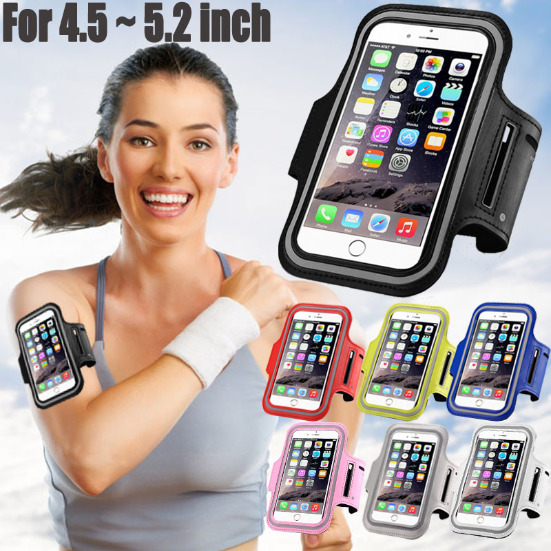 <font><b>Universal</b></font> Waterproof Sport Case GYM Arm Band Leather Coque for iPhone 6 6S 5S Samsung Galaxy S6 S7 Edge Huawei P8 P9 Lite Xiaomi