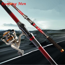 Discount! Spinning Carbon Telescopic Fishing Rod All Metal Accessories2.1M-3.6M Saltwater Superhard Carbon Telescopic Spinning Fishing Rod