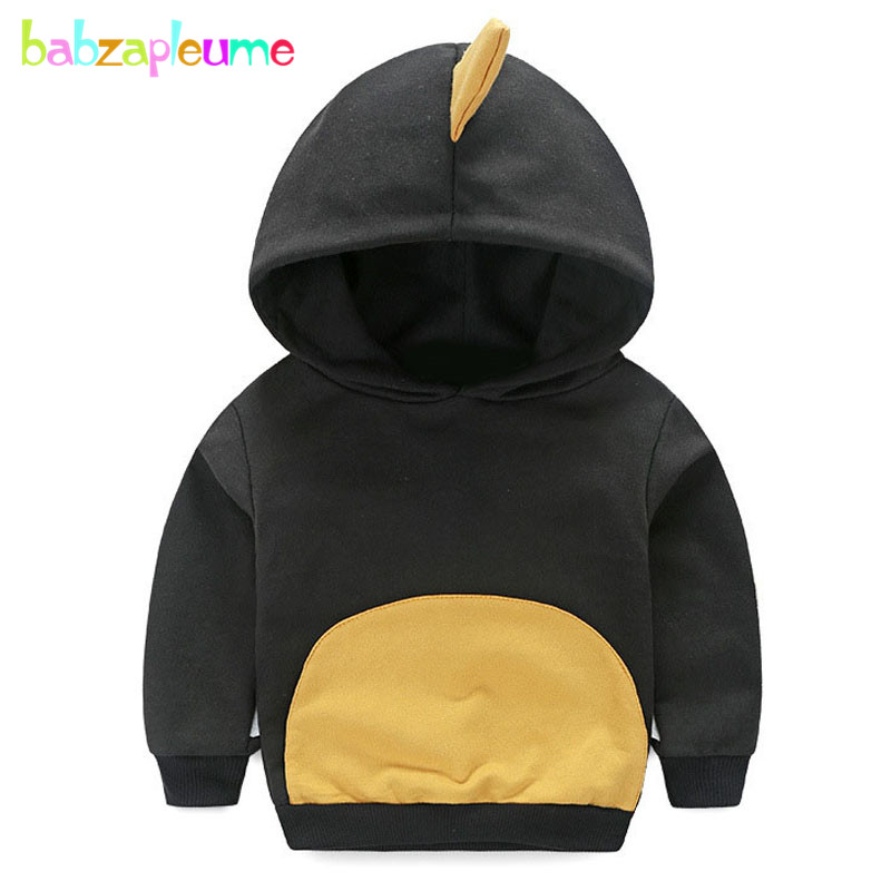 1-5Years/Spring Autumn Baby Boys Sweaters 100% Cotton Hooded Childrens Clothes Infant Sweatshirts Korean Kids T-shirt BC1300