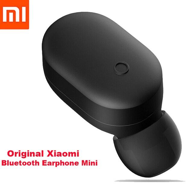 Оригинальный Xiaomi Bluetooth наушники мини беспроводная Hifi гарнитура Bluetooth 4,1 Xiaomi LYEJ05LM наушники с микрофоном наушники Miband 3
