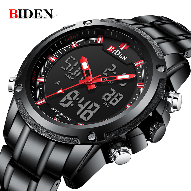 BIDEN Top Brand Luxury Business Quartz Watch Fashion Military Men Watches Waterproof Sports Wrist Watch men Relogios Masculino hot luxury top brand watch men fashion faux leather men quartz analog business wrist watches men s clock relogios masculino a75