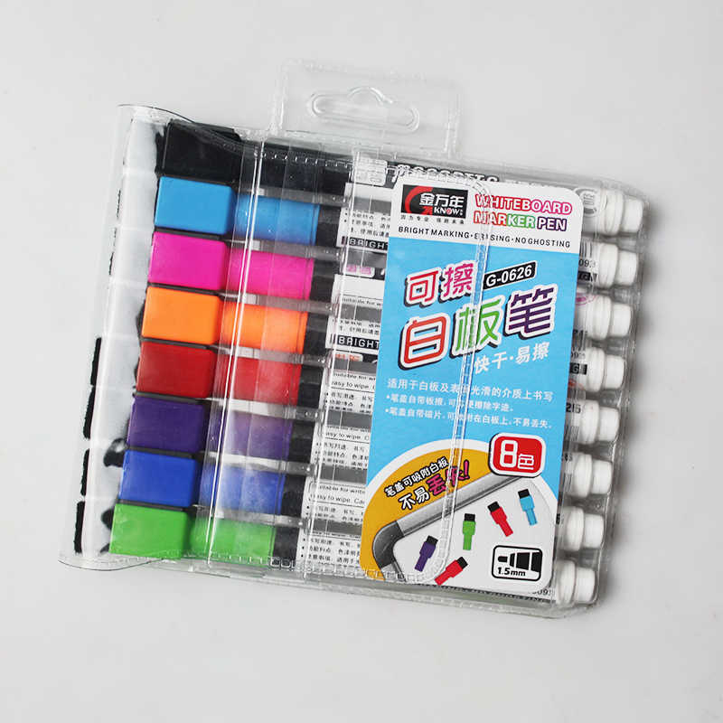 KNOW Whiteboard Marker Magnetic Board Pen Quick-Drying Easy Erase Marker White Board Office & School Supplies