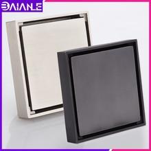 Drain-Cover Floor-Drain Bathroom Insert Shower Toilet Square Balcony Brass-Hidden-Tile