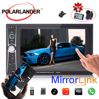 DVR 6 inchs 2 Din fast shipping Mirror Link Touch Screen MP5 Player Bluetooth USB/AUX/SD Remote Control Car Radio