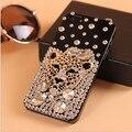 Tigre leopardo que bling cristal de diamante caso de telefone para o iphone 7 6 6 s plus 5S 5c 4S samsung galaxy note 7 5 4 3 2 s7 s6 borda mais S5