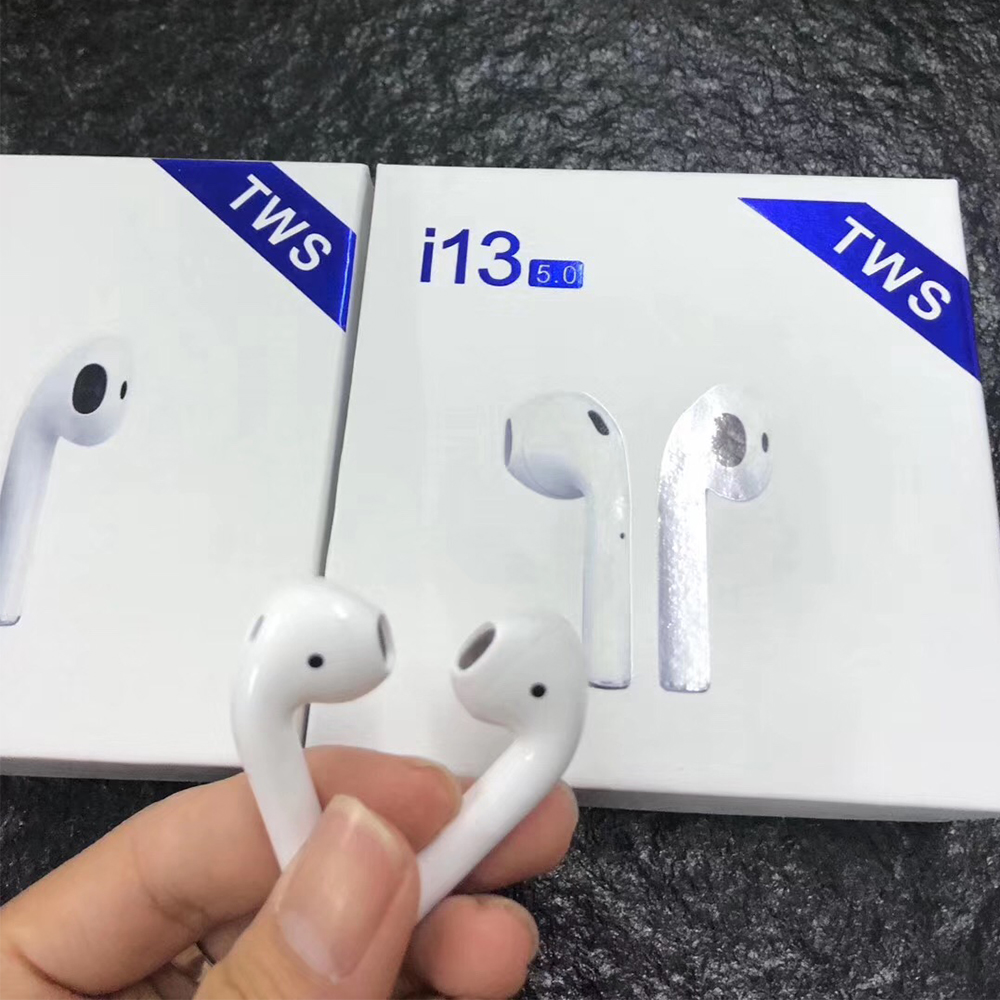 TWS i13 écouteurs bluetooth Mini Air Gousses véritables écouteurs sans fil Tactile Contrôle 3D HiFi Stéréo écouteurs Pour IOS Andorid