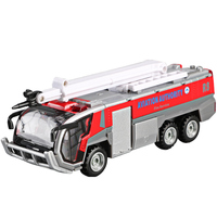 Toy Car Vehicles for Children Fireman And His Fire Engine Truck &Ladder truck Ckn Toys Pretend Play Firefighter Pull Back cars