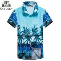 Nouveau 2018 chemises hawaïennes pour hommes à manches courtes chemises de palmier Tropical hommes été camisa masculina chemises de plage fantaisie hommes grande taille 5XL