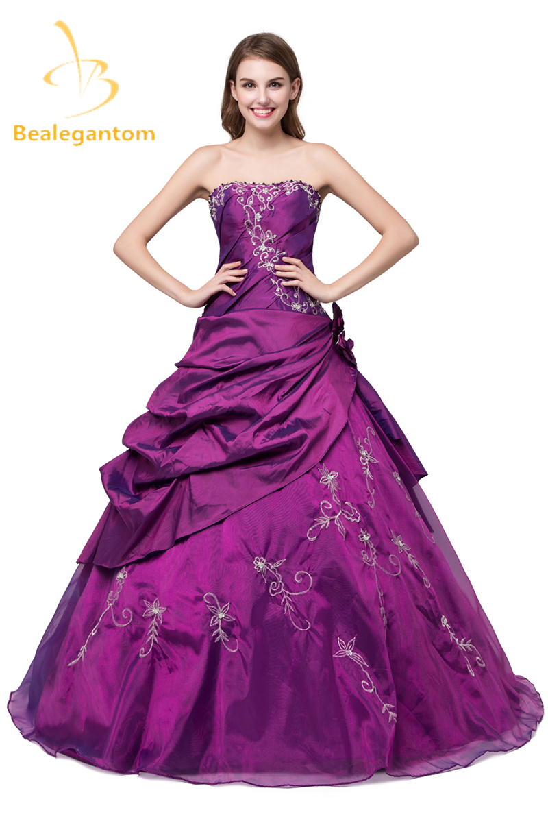 New Stock Cheap Taffeta Burgundy Quinceanera Dresses Ball Gown Appliques Beaded Sweet 16 Dresses 2-4-6-8-10-12-14-16 QA976