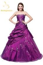 Новый Запас Дешевые тафты бордовые платья quinceanera бальное