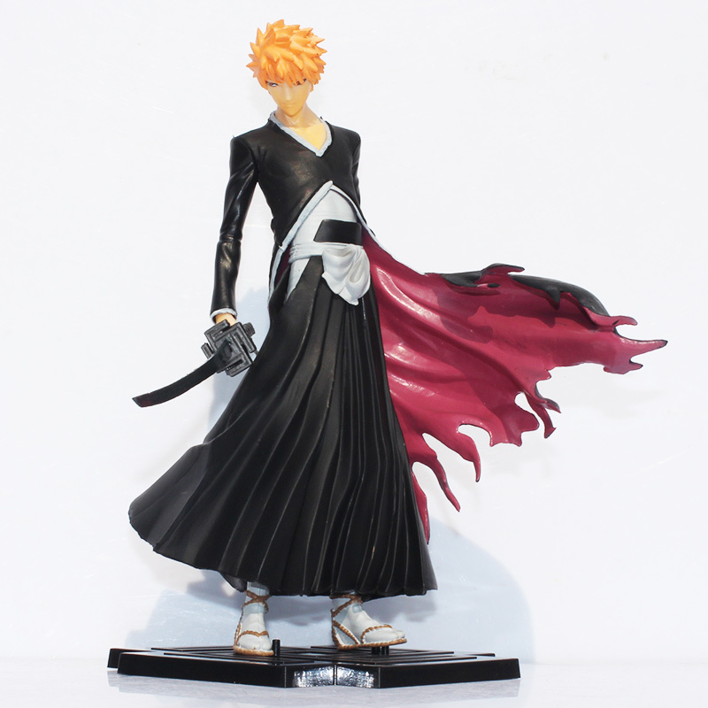 Anime Kurosaki Ichigo Bleach PVC Action Figure Collectible Model Toy bleach kurosaki ichigo action figure toys japanese anime model pvc action figma toys for anime lover asgift 18cm n105