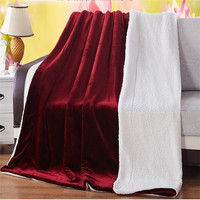 150 200cm 200 230cm Thicken Fleece Blanket On The Bed Solid Color Plush Sofa Blanket Winter