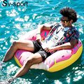 water Float  1.2M pink pool float Inflatable Ride-On Pool Air Mattress Swimming Ring Water Fun Pool Toys boia para piscina
