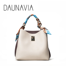 DAUNAVIA новая женская сумка тренд хит цвет украшение для шарфа сумка-мешок модная сумка на плечо сумка-мессенджер