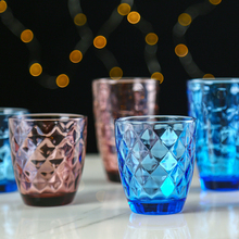 6pcs/set Retro Colorful Embossed Water Cup Beer Glass Wine Creative Glasses Whiskey tea Straight Drink cup