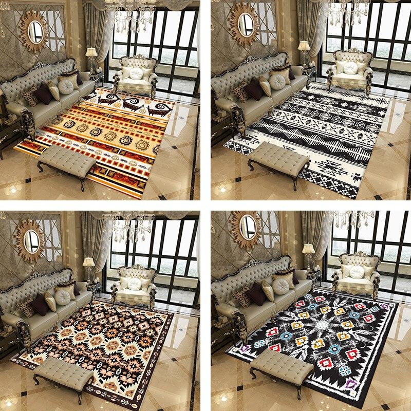 Nouveau créatif géométrique salon chambre tapis ménage rectangulaire imprimé tapis/tapis canapé table basse tapis de sol personnalisé