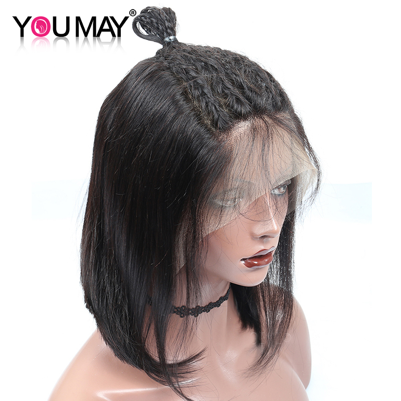 Straight bob Short Human Hair Wigs Brazilian 150 13x6 Pre Plucked Lace Front Human Hair Wigs