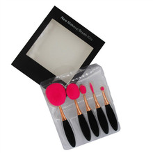 5pcs/Set Oval Pro Makeup Blush Eyeshadow Blending Set Concealer Cosmetic Make Up Brushes Tool Eyeliner Lip Brushes