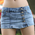 Summer Sexy Women Shorts 2017 Newly Low Waist Fashion Skinny Skirts Shorts Brief Buttons Decorated Ladies Denim Shorts 40465
