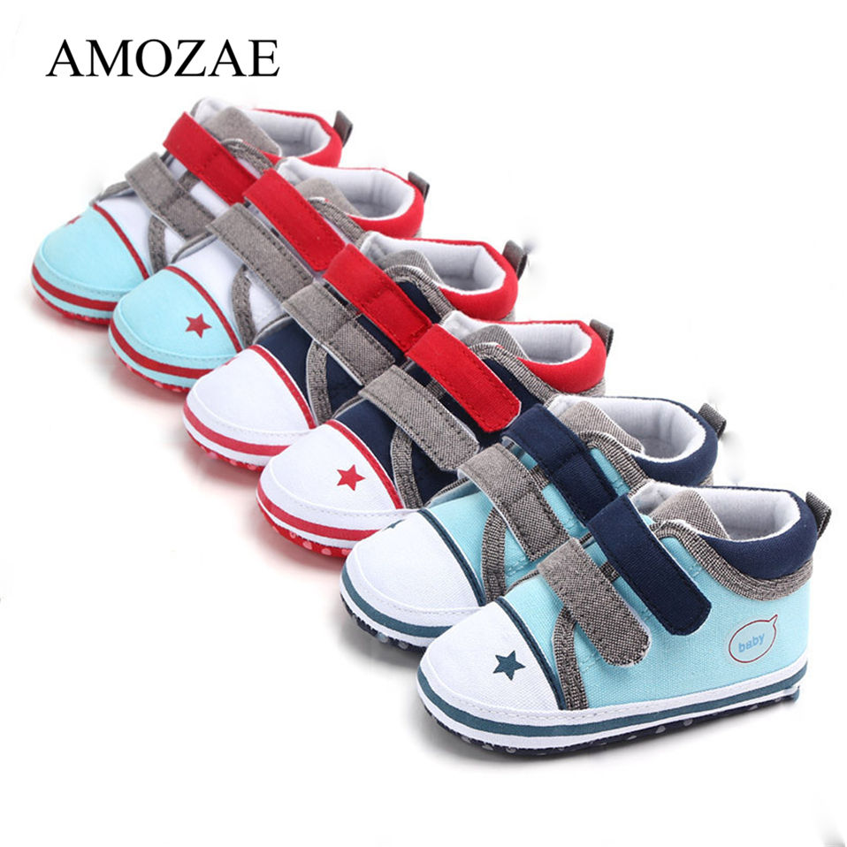 Classic Canvas Baby Shoes Newborn Print Star First Walker Fashion Baby Boys Girls Shoes Soft Sole Casual Shoes Sneakers