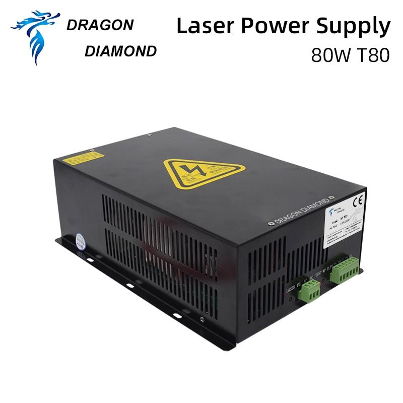 CO2 лазерный 80 Вт Питание HY-T80 для CO2 лазерный станок для гравировки и резки