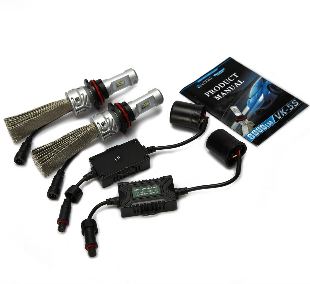 1Set Car LED Headlight 9007 HB5 Hi/Lo beam headlamp Conversion Kit 8000LM 6500K For Fog DRL Daytime Head Light Source DC12V-24V