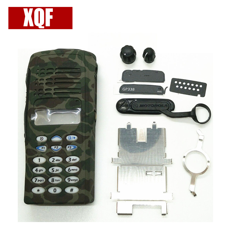 XQF Camouflage Complete Radio Service Parts Front Case Housing Cover Refurb Kit For Motorola GP338 GP380 PTX760 Two Way Radio