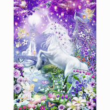 Beautiful unicorn diamond Embroidery diy painting mosaic diamant 3d cross stitch pictures H634