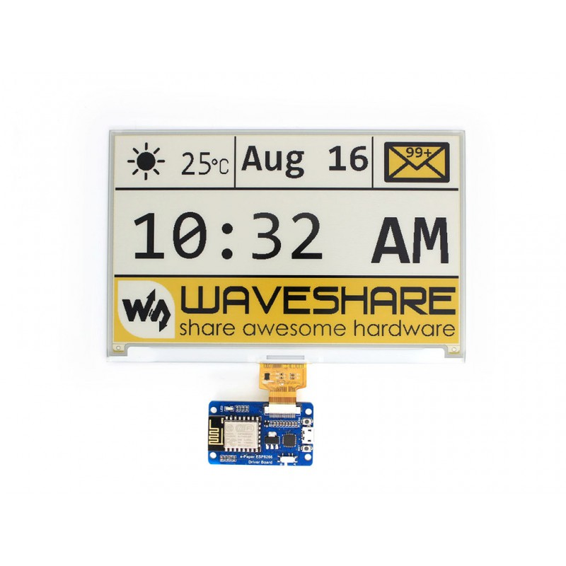 Купить с кэшбэком Waveshare Universal e-Paper Driver Board ESP8266 WiFi Wireless, supports various Waveshare SPI e-Paper raw panels